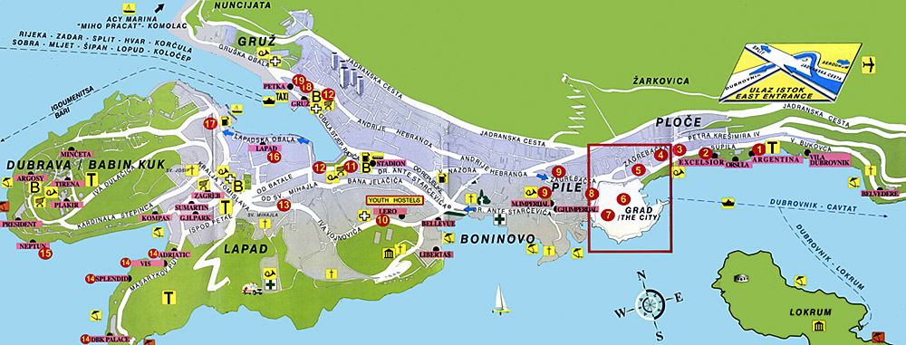 Croatia fourth stop dubrovnik world away dubrovnik map 002g gumiabroncs Gallery