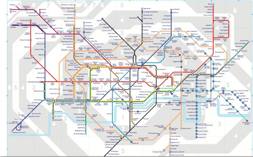 Mapa metro Londres