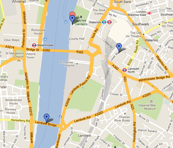 Mapa revellion Londres