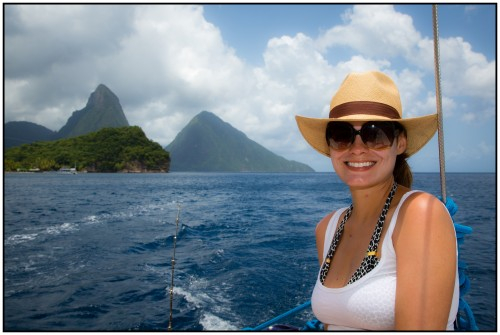 Adriana on the boat