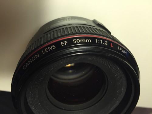 Lente Canon L Series 50mm com diafragma 1.2