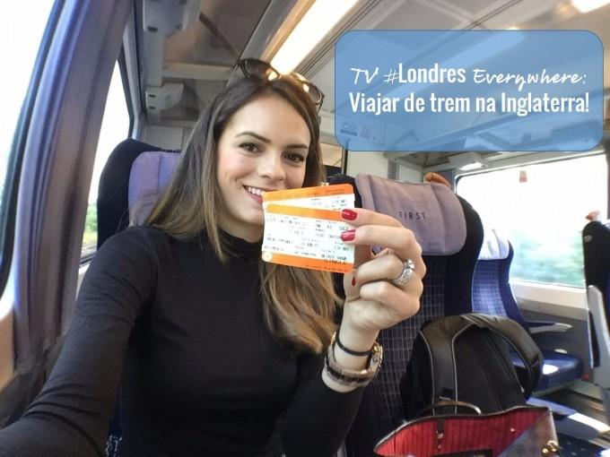 Viajar de trem na Inglaterra