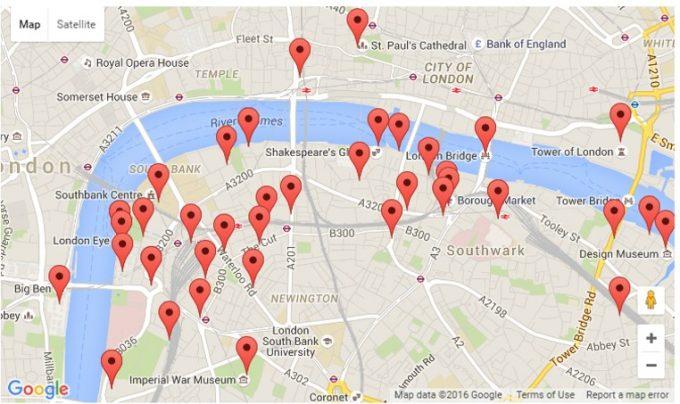 praça de londres mapa Roteiro de Londres: Waterloo e Southbank no Mapa!   Dri Everywhere praça de londres mapa